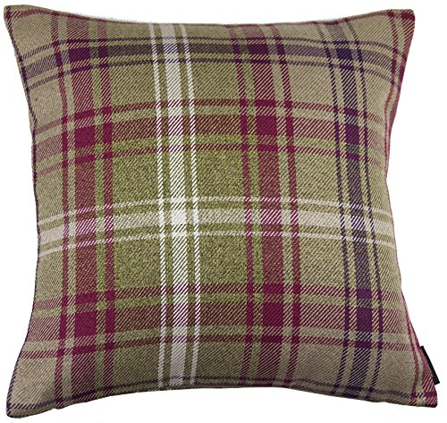 McAlister Angus Farmhouse Plaid 18″ Decor Pillow Cover | Mulberry Brown 18×18 Throw Cushion Case | Heavy Linen Woven Texture | Striped Primitive Rustic Cabin Accent Review
