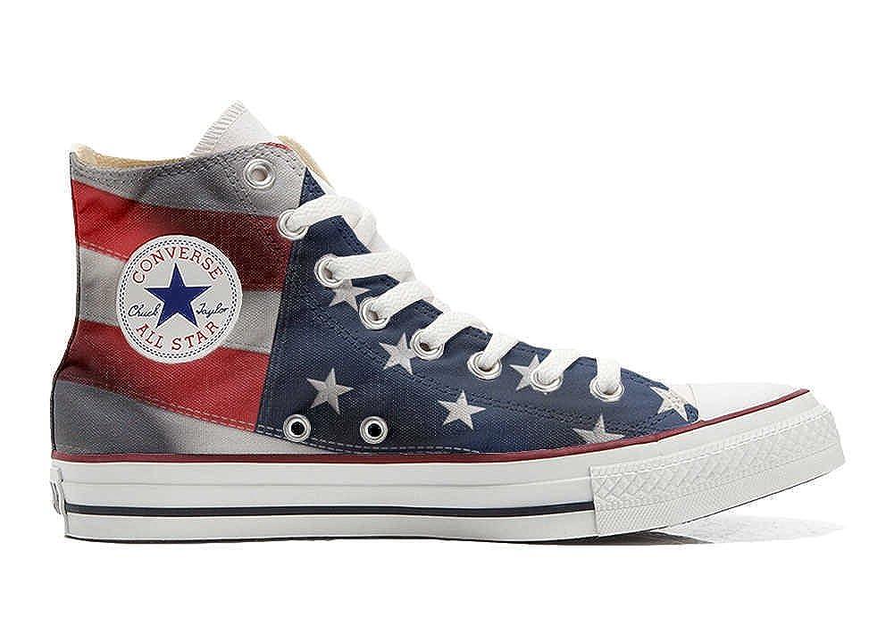 Converse Converse Converse All Star personalisierte Schuhe - Handmade schuhe - mit American Flag (USA) c2ff69