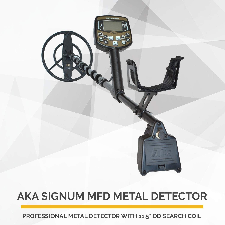 Aka Signum MFD - Detector de Metales Profesional (Alta frecuencia, Sistema de detección de Metales computarizados con Pantalla Grande): Amazon.es: Jardín