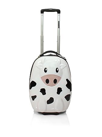 John Travel Trolley rígido Infantil Vaca Blanco 43 cm: Amazon.es: Equipaje