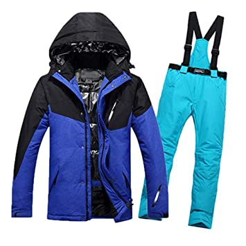ZLULU Traje De Esqui Traje De Esquí para Hombre Chaqueta De Snowboard Térmica A Prueba De