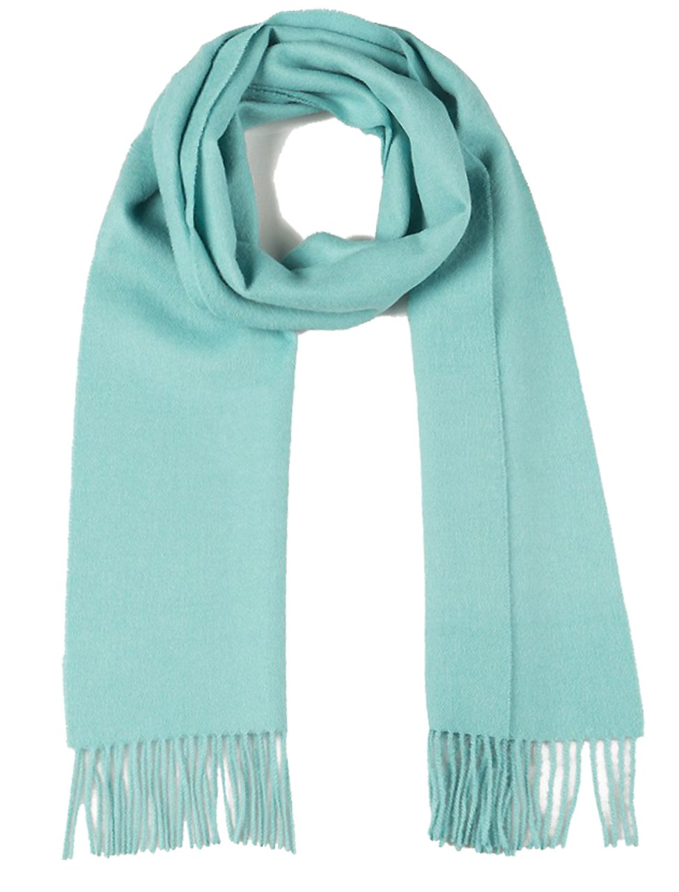 100% Pure Baby Alpaca Scarf - Bright Happy Solid Colors (Clearwater Blue)