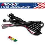 LED Light Bar Wiring Harness with Female DT Connector, 4WDKING 14AWG 400W 12FT Length Heavy Duty 40Amp Fuze Relay Waterproof