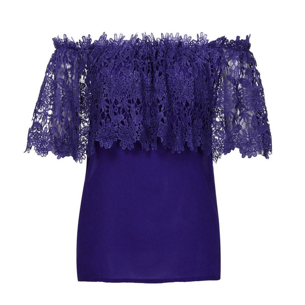 ❤ Blusa Casual de Mujer, Mujeres Atractivas del Hombro Tops ...