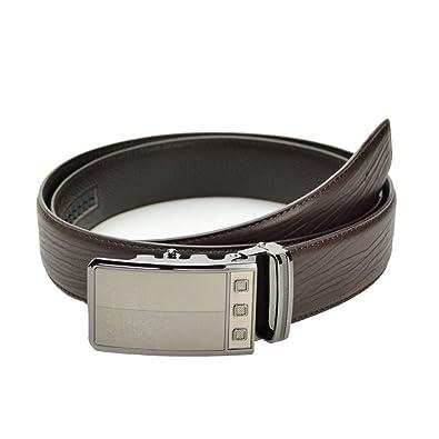 Y-WEIFENG Cinturón clásico para Hombre de Negocios Hebilla ...