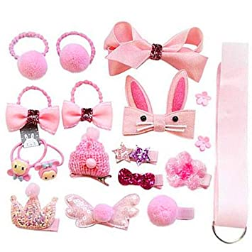 18 Pcs Baby Girls Toddlers Kids Tiny Boutique Hair Bows Clips Barrettes NEW