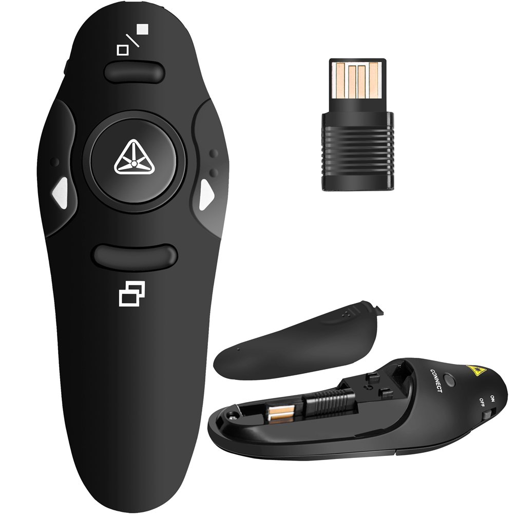 Beboncool, telecomando wireless per presentazioni PowerPoint con puntatore QIXUN TECH DA40068-UK