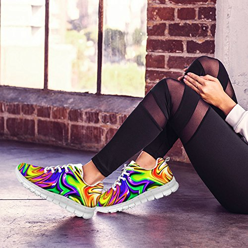 FOR U DESIGNS Stylish Womens Fashion Sneaker Casual Comfortable Athletic Walking Running Shoes Multi 1 yNTSn