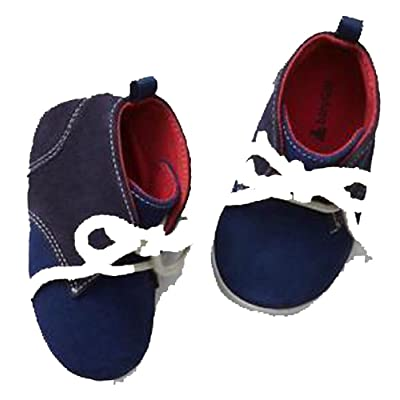 Baby Gap Boys Navy Suede Lace-Up High-Top Shoes 3-6 Months