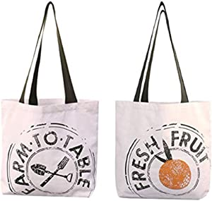 Reusable Grocery Bag Shopping Tote Extra Large Heavy Duty 12 oz Cotton Canvas Multi Purpose Durable & Machine Washable Proudly Made in the USA (Farm to Table Natural)
