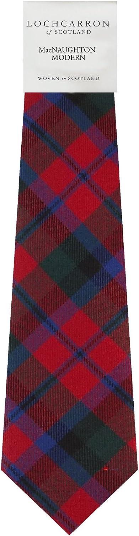 MacNaughton Clan 100/% Wool Scottish Mens Tartan Tie