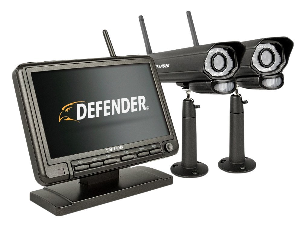 Defender PhoenixM2 Wireless Security System with 7`Monitor and Two Night Vision Cameras