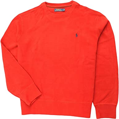 Polo Ralph Lauren Men\u0027s French-Rib Crewneck Pullover, Pioneer Red, ...