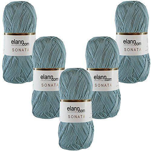 elann Sonata Yarn | 5 Ball Bag | 2369 Alaskan Blue