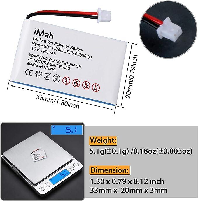 01 Batterie pour Plantronics cs50usb 64399 01 SC60 6535801 01 64327 01 65358 64399