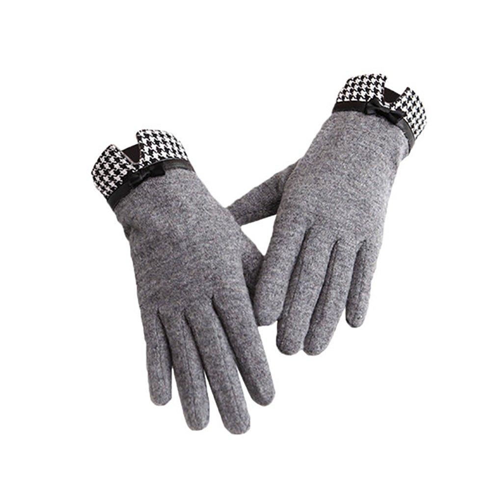 LHZMD Wollhandschuhe, Warme und Samtige Dicke Touchscreen Weibliche Modelle, Wollmischgewebe, Plus Futter, Grö ß e 23 * 18Cm.