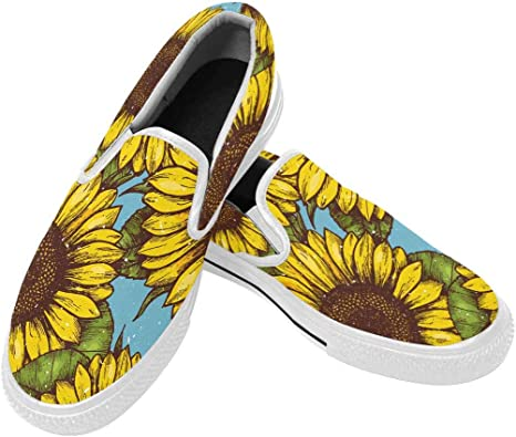 Fashion Sneakers Custom Sunflower