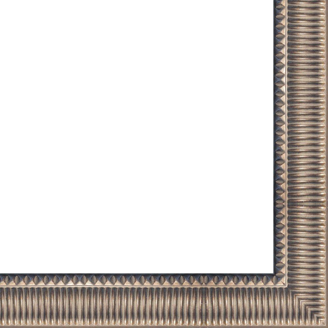 Picture Frame Moulding (Wood) 18ft bundle - Contemporary Antique Silver Finish - 3'' width - 5/8'' rabbet depth