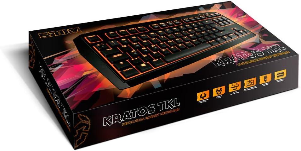 KROM NXKROMKRTSTKLBN - Teclado Gaming (alámbrico, USB) Color marrón