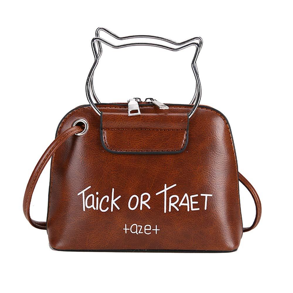 Damen Umhängetasche Katze Muster Messenger Bag Frauen Handtaschen Klein Henkeltasche