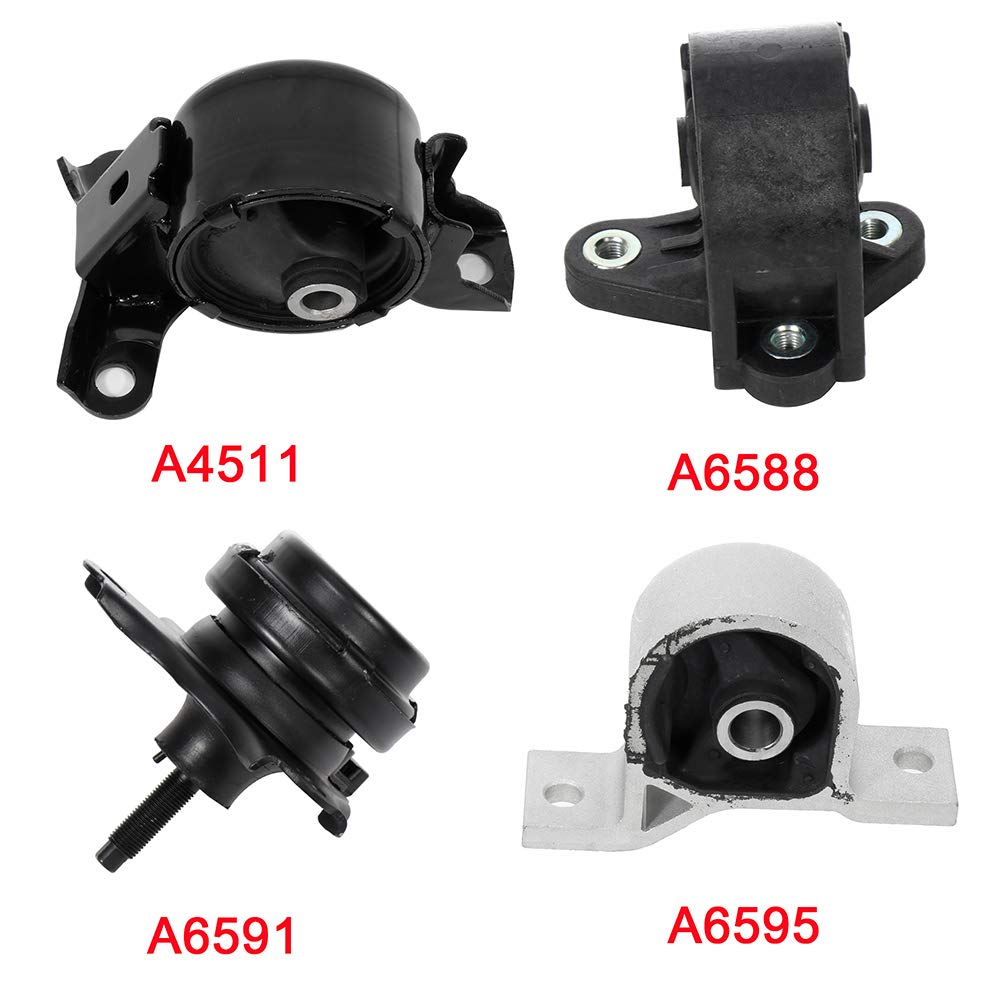 ECCPP Engine Motor and Trans Mounts A6595 A6591 A6588 A4511 Set of ...