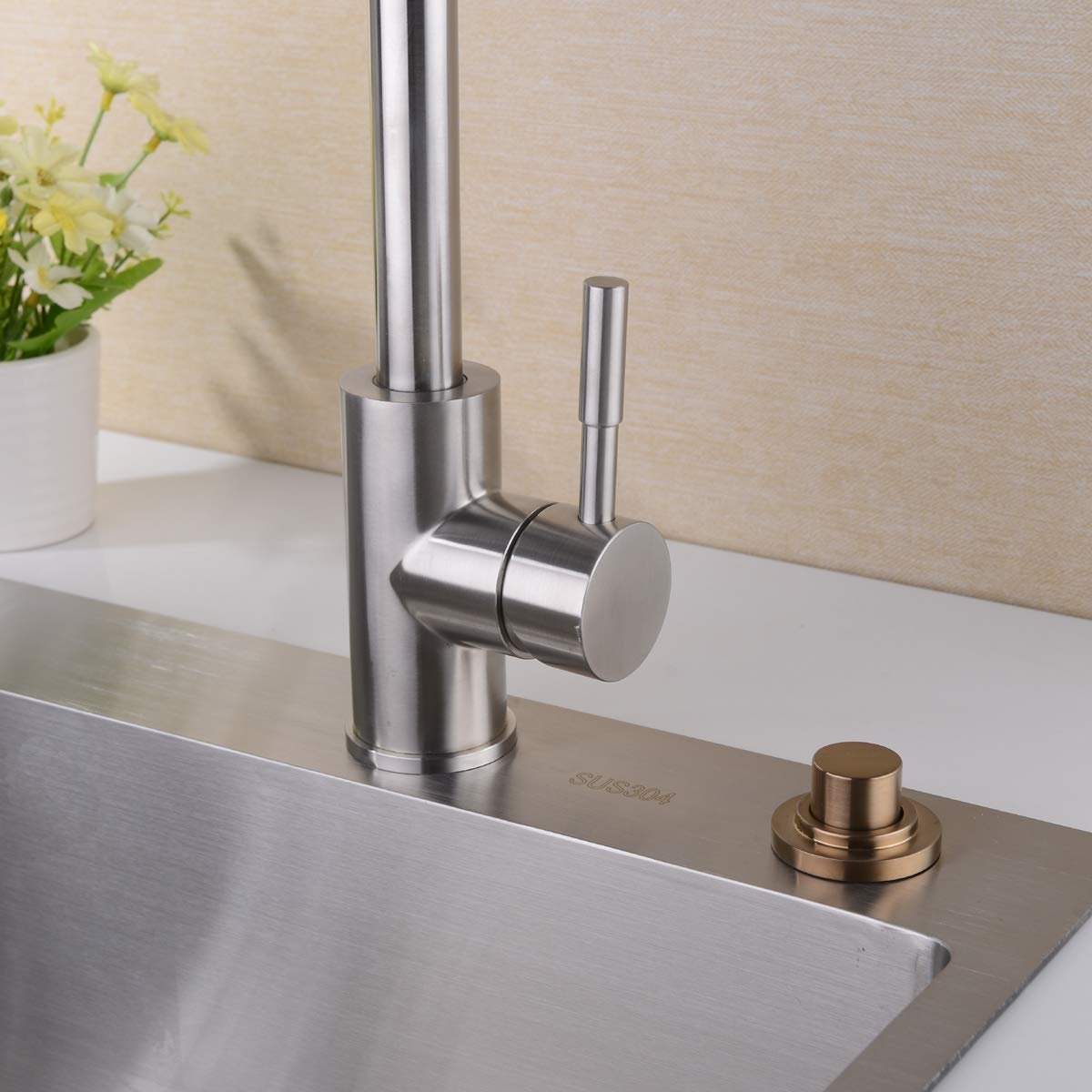 for Disposal Dual Outlet, Full Brass SINKINGDOM SinkTop Air Switch Kit Chrome