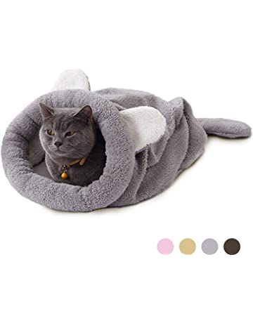 Eono Essentials Gatto Sacco a Pelo Animale Domestico Marsupio Morbido Caldo Lavabile Gatto Letto Rannicchiarsi Sacco