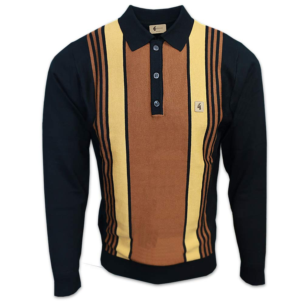 1960s Menswear Outfits | 60s Fashion for Guys Gabicci Mens Searle 60s Stripe Knit Polo Jumper $84.95 AT vintagedancer.com