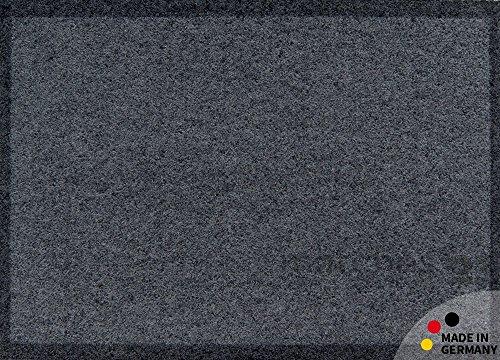 Fußmatte Fußabstreifer schmutzabsorbierend Schmutzfangmatte Uni einfarbig dunkelgrau 40x60 cm maschinenwaschbar