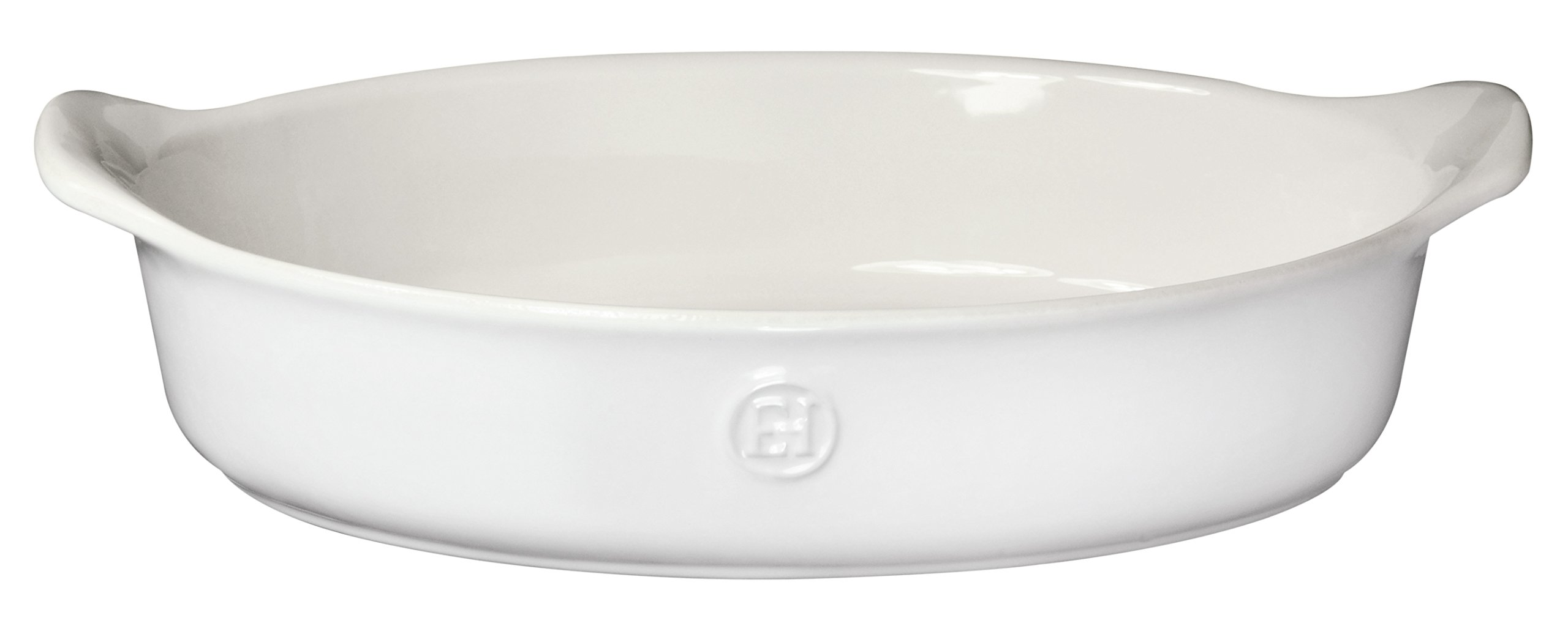 Emile Henry Made In France HR Modern Classics Oval Baker, 14.2 x 9.4, White