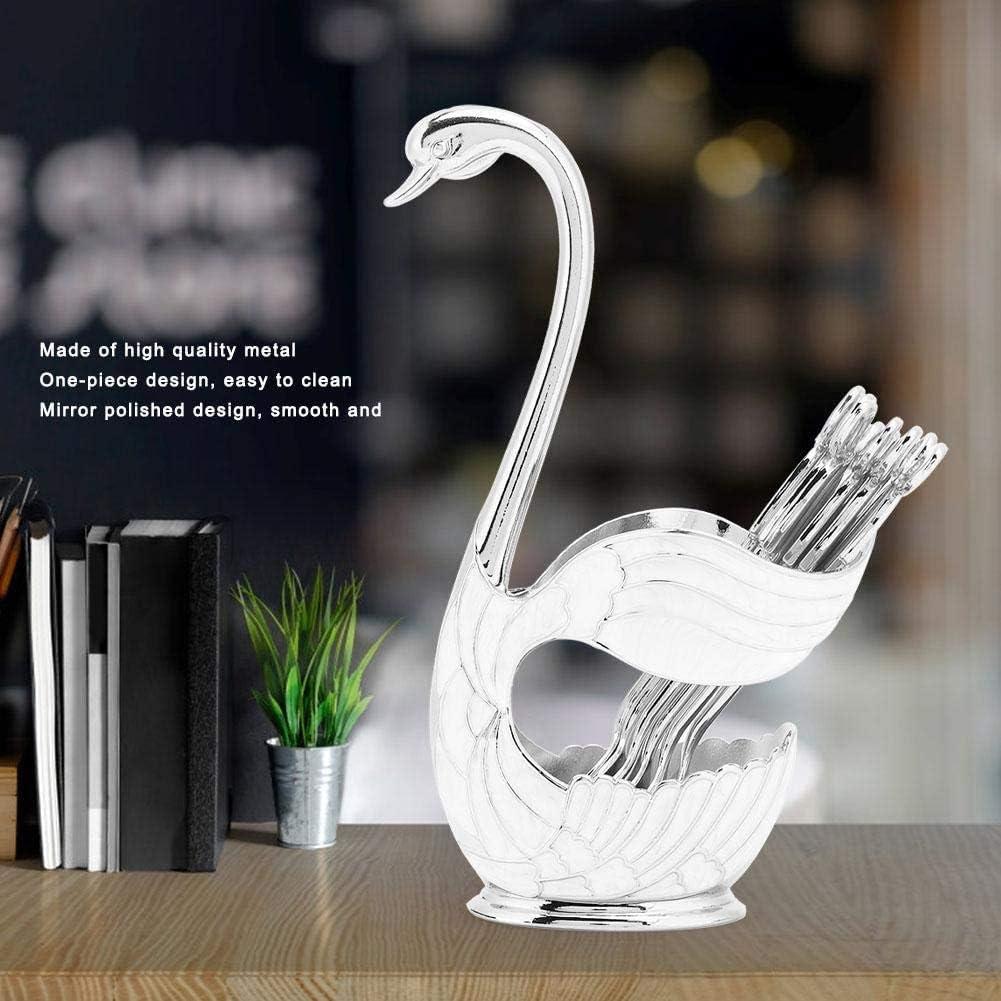 SimpleLife Swan Spoon Holder Table Vaisselle pour Cuill/ères /À Caf/é Fourches /À Fruits D/écor De Couverts