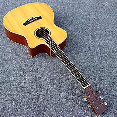 Guitarra acústica Cutway Design de 40 pulgadas, 20 trastes, color ...