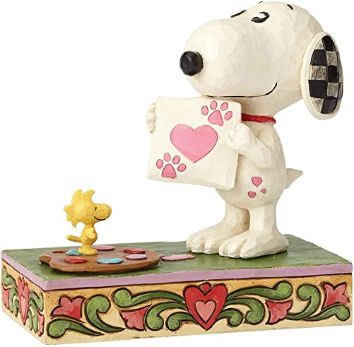 Enesco Peanuts by Jim Shore Snoopy with Woodstock