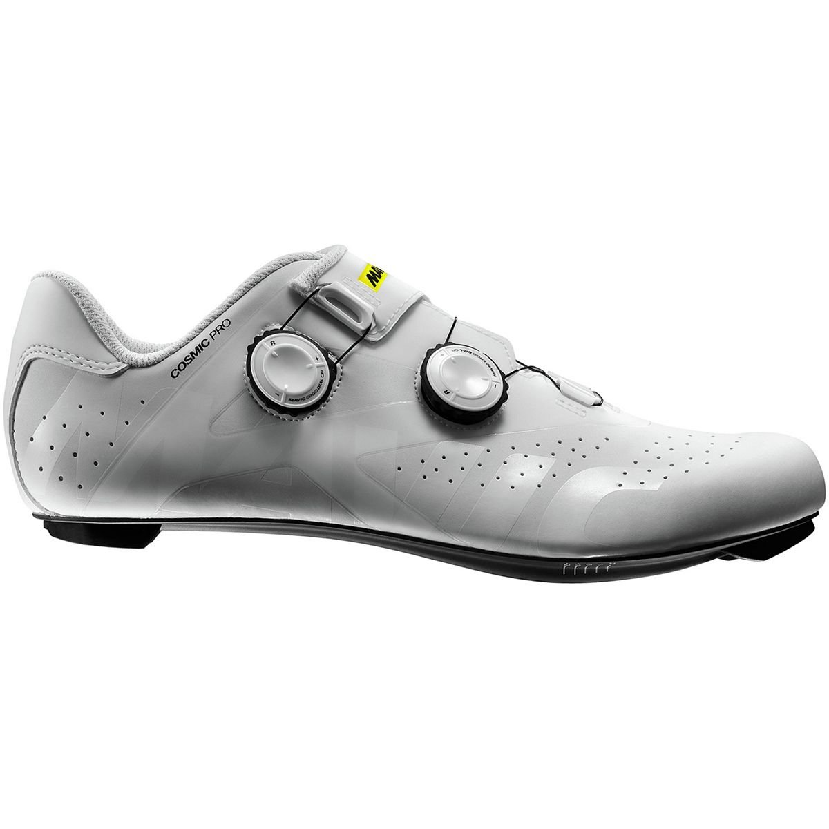 Mavic Cosmic Pro Cycling Shoes - Men's B078S4YGG9 8 D(M) US|White/White/Black