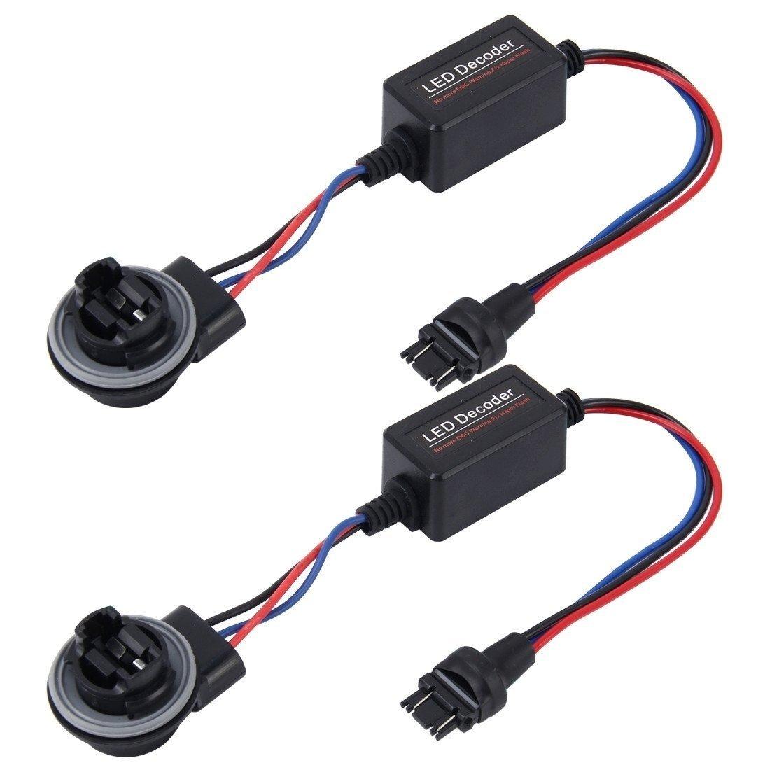 Oda 2 Pcs LED Load Resistor 3157 Car LED Decoder Warning Error Canceller Auto Canbus Error-Free Adapter