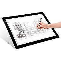 LITENERGY Portable A4 Tracing LED Copy Board Light Box, Ultra-Thin Adjustable USB Power Artcraft LED Tracer Light Pad…