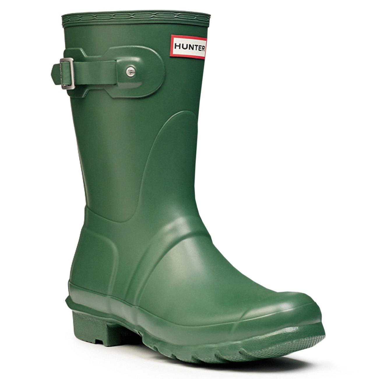 Womens Hunter Original Short Wellington Rainboots Snow Waterproof Wellie - Hunter Green - 7