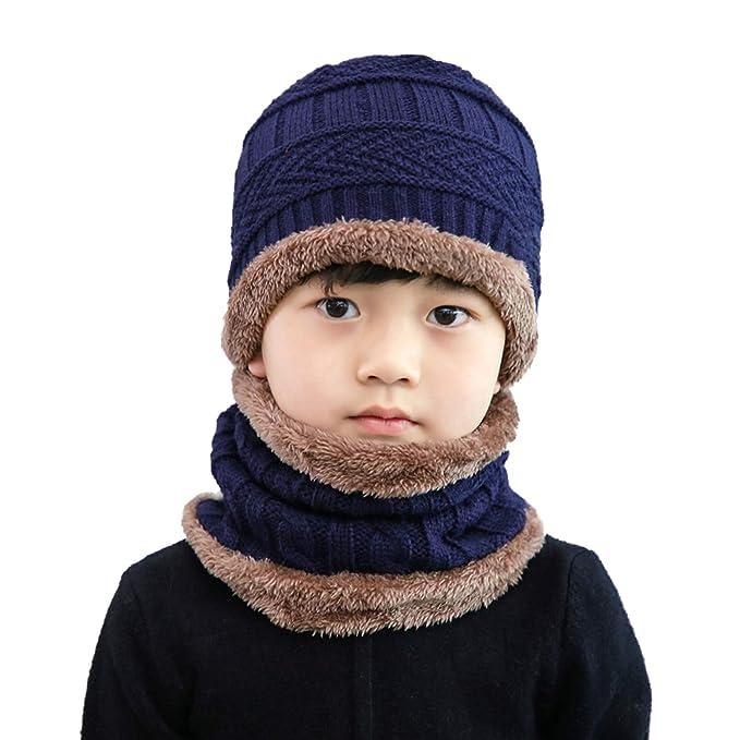 Amazon.com  Folamer Kids Winter Hat Scarf Set 2d8bac2f89a5