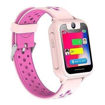 bhdlovely Reloj Inteligente para Niños, Niñas y Niños Regalo de Cumpleaños o Festival SIM Llamadas(Rosa)