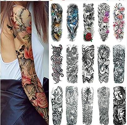 Tatuaje temporal de brazo completo, Konsait Pegatinas de cuerpo de ...