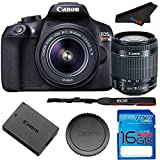 Canon EOS 1300D / T6 EF-S 18-55mm 18.7MP CMOS 5184 x 3456 Pixels (Black) + 16GB SD Card