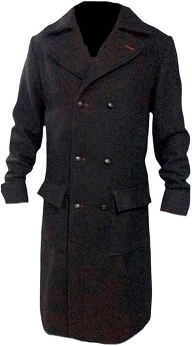 Sherlock Holmes Black Wool Benedict Cumberbatch Trench Coat