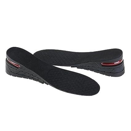 ed0301a413 ROSENICE Plantillas Elevadora Aumenta Altura Plantillas Alzas De Zapato 6CM  (Negro)