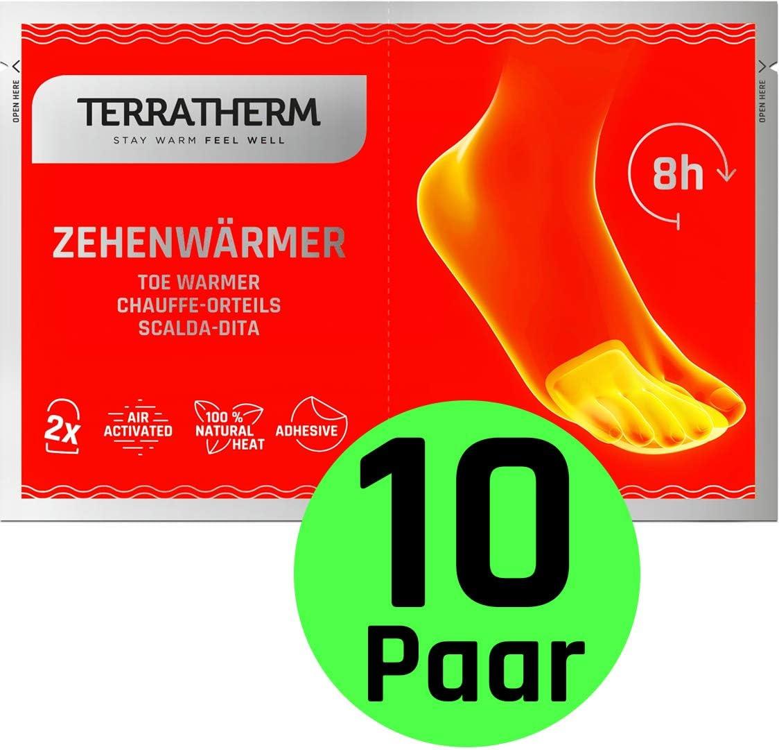 Calienta pies adhesivos- 10 Pares , calcetines con calefacción de 8 horas, Calentadores de dedos y Calentadores de pies, adecuados para todo tipo de zapatos, extra finos, y cómodamente suaves