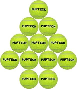 PUPTECK 12 Pack de Pelotas de Tenis para Perros chillonas para ...