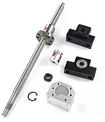 TEN-HIGH Ball Screw CNC Parts SFU2505 RM2505 25mm 600mm with Metal Deflec.. New