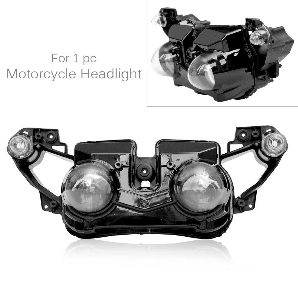 バイク 高品質 ヘッドライト カバー 電球なし 専用設計 ABS製 交換 防水 耐衝撃 耐熱 ドレスアップ カスタム 外装 パーツ ヤマハ YZF R1 2009 2010 2011 B07RXKFD7K