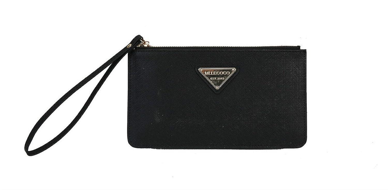 Mllecoco Genuine Leather Zipper Closure Wristlet Handbag Wallet 88011