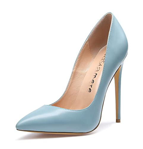 CASTAMERE Damen Pumps High Heels Klassische Stilettos Spitzen Pfennigabsatz Pumps Slip On Elegant Hochzeit Party Schuhe 12CM Stiletto Heels