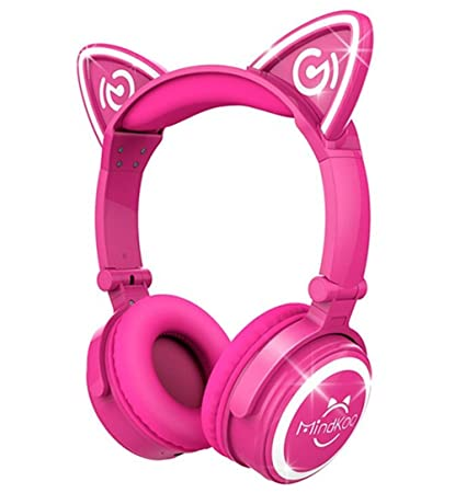 Auriculares inalámbricos TECKEPIC con luz LED intermitente, plegables, con Bluetooth, para iPhone,